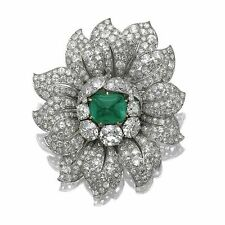 Green Cushion Flower Cluster Sparkly Ring Jewelry Celebrity Style Solid 925 ss