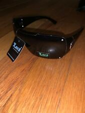 Locs Black Designer Rectangle Sunglasses With Screwed In Lenses 9079