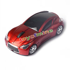 Cool Wireless 3D 2.4GHz Red Infiniti Car shape Optical Usb Gaming Mouse Mice