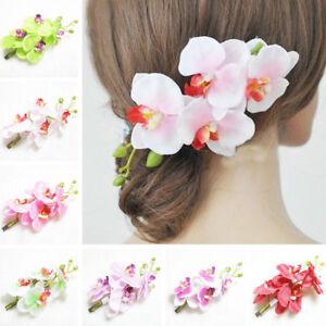 Women Artificial Silk Flowers Hairpin Hawaiian Hair Clip Wedding Hair Accessries