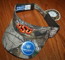 buy popular 4f0a8 9d91d NEW NWT Real Tree Camo Oklahoma State University OSU Cowboys Visor Top World   H8
