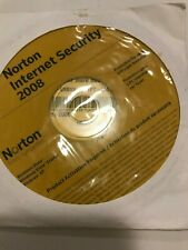 New Norton Internet Security 2008 CD ROM PC Symantec with product key for 3 pc's