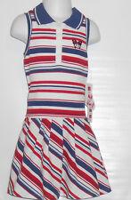 No Kidding Girls Sleeveless Striped Tennis Dress Multi-Color Four (4) NWT