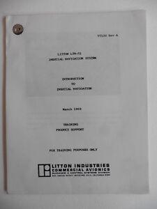 Litton Internal Navigation System Manual /Training Support, 1969