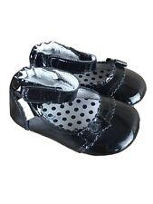 Robeez Girls Ms Plain Jane black Patent Leather Shoe US Size 3 (6-9 Months)