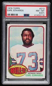 1976 Topps Earl Edwards #213 PSA 8