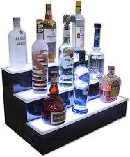 34 3 Step Tier Led Lighted Shelves Illuminated Liquor Bottle Display Free Ship