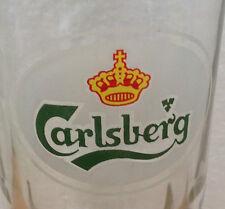 VINTAGE CARLSBERG BEER GLASS Old Logo Grip Glass Base MALAYSIA