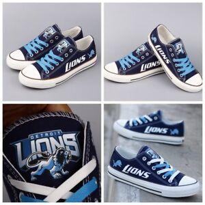 DETROIT LIONS Women's Men's Shoes Sneakers Football Team Fans Glow in the Dark