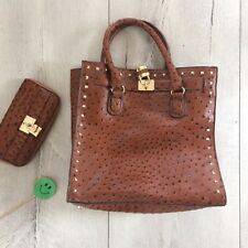56fb2f240db9 Matalan Set Handbag   Purse Tote Medium Tan Brown Pu Faux Leather