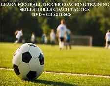 Impara IL CALCIO Soccer Coaching formazione competenze esercitazioni tattiche pullman DVD + CD