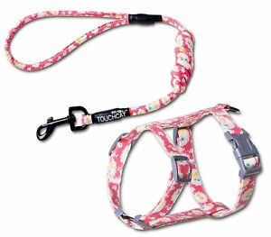 Durable Cat Harness and Leash Combo by Touchcat Pink