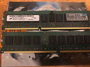 MT HP 16GB total 2x 8gb PC3 DDR3 REG RAM memory module 12800R
