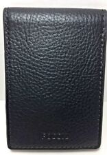 Fossil Tyler Front Pocket Wallet ID Money Clip Card Case Black Leather RFID NWT