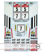 STUDIO 27 RENAULT ALPINE A110 SAN REMO + TOUR DE CORSE 75 DECAL for TAMIYA 1/24
