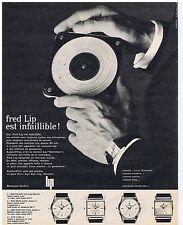 PUBLICITE ADVERTISING 104 1963 Fred LIP est infaillible montre