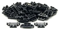 Lego 50 New Black Plates Modified 1 x 2 with Racers Car Grille Pieces