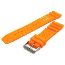 Tough PU SCUBA Divers Watch Strap ND Limits 24mm Orange