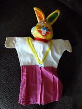 VINTAGE RARE mano pupazzo-Punch & Judy-Coniglio