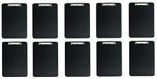 10x Klemmbrett A4 schwarz | Klemmmappe | Schreibunterlage | Clipboard
