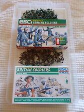 Job Lot #3 1/72 scale wwll British & German plastique soldats et boîtes. ESCI.
