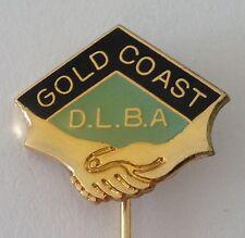 Gold Coast District Friendship Bowling Club Badge Bar Pin Handshake (M23)