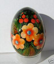 Ukrainian Easter Egg Pysanka Petrykivka paintin wooden - folk art