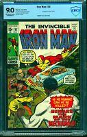 Iron Man #32 CBCS VF/NM 9.0 Off White to White Marvel Comics