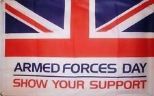 ARMED FORCES DAY FLAG 5' x 3' British Army Royal Navy RAF Military Union Jack