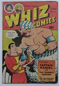 Whiz Comics #126 (Oct 1950, Fawcett) VG 4.0 Schaffenberger and Wolverton art