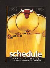 Chicago Bulls--1997-98 Pocket Schedule--Miller Lite