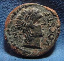 Ancient Spain Kastilo. Mid 2nd century BC. Æ Iberia Castulo Semis bronze coin.