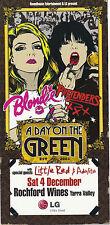Blondie & The Pretenders Day On The Green Handbill Concert Flyer 2010 Australia