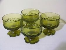 Franciscan Madeira Tiffin Citron Green Champagne Tall Sherbet Glasses Set of 4