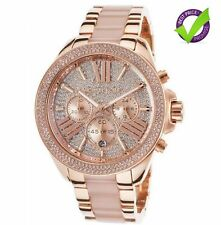 NEW GENUINE MICHAEL KORS MK6096 WREN CRYSTAL ROSE GOLD LADIES WATCH UK