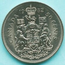 1982 CANADA 50 CENTS COIN