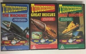 Thunderbirds 3 VHS Tapes Gerry Anderson 30th Anniv. Machines Rescues Disasters