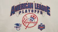 VTG. 1995  New York Yankees American League Playoffs T-Shirt by Starter Size XL