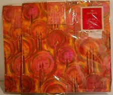 2 Pkgs Vintage Hallmark Gift Wrap Wrapping Paper Gift Tags Orange Pink Red 1970s