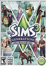 The Sims 3 GENERATIONS Expansion Pack PC/Mac Game DVD ROM with Code - Free Ship!