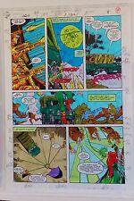 GREEN LANTERN QUARTERLY #1 PG. 8 1992 ORIGINAL PAINTED PRODUCTION ART-ALAN SCOTT