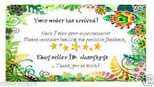 30 eBay Seller Five Star Reminder Cards | Thank You's | Business - Personalized