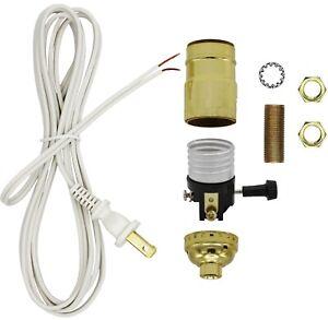 Make a Lamp or Repair Kit - All Essential Hardware, 3 Way Socket - Gold