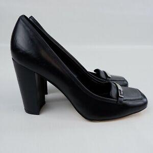 Superb CALVIN KLEIN Billana Heels - UK4 - Black Court Shoe Block Heel B3-17