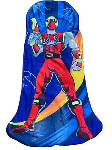 Kids Power Rangers Red 'Jason Scott' Multi Sleeping Bag Zip Boy Girl Camp 30x60