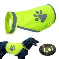 Dog Raincoat Waterproof Reflective Pet Jacket Hoodie Coat Clothes US STOCK