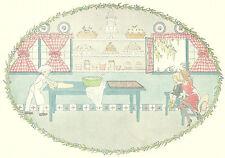 Pat A Cake Baker Kids Willebeek Le Mair Original Antique Art Print Matted 11x14