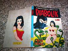 DIABOLIK ANNO V N.23 ORIGINALE 1966 OTTIMO TIPO KRIMINAL SATANIK KILLING