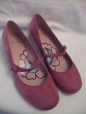 CLARKS PINK SUEDE LEATHER MARY JANE SHOES size 6 BNEW