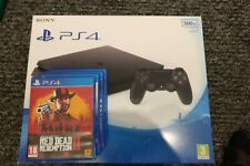 Sony PlayStation 4 Slim 500GB Black with four games, perfect condition